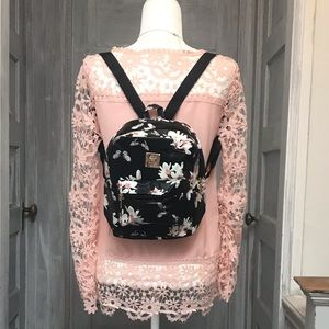 Handbags - NEW | PU leather floral backpack